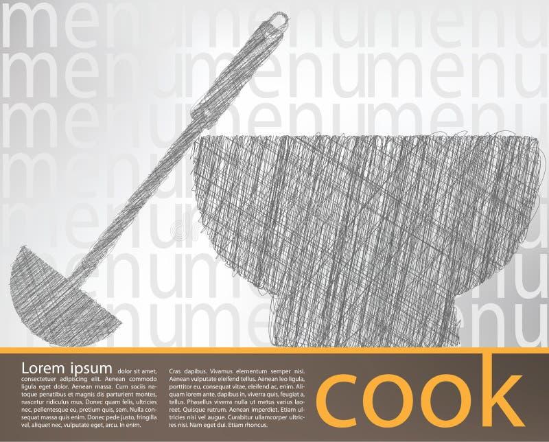 Illustration de soupe illustration libre de droits
