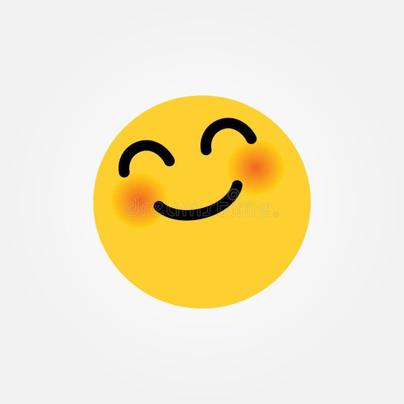 Illustration de sourire de vecteur d'émoticône de Yay illustration stock