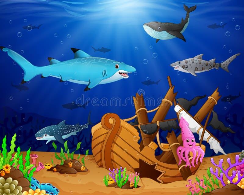 Illustration de sous la mer illustration libre de droits
