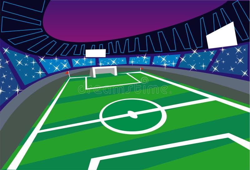 Illustration de stade de football illustration de vecteur