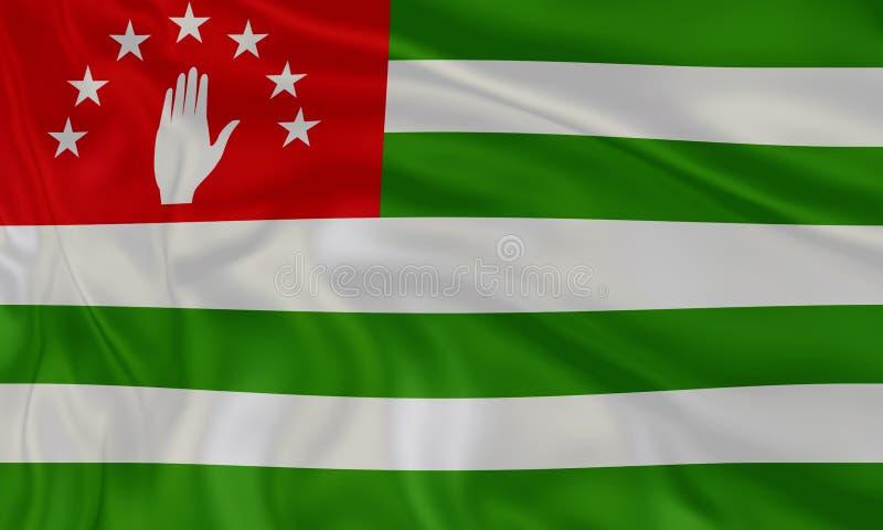 Illustration de stupéfier le drapeau d'Abhkazia Drapeaux des ressortissants de pays du monde illustration libre de droits
