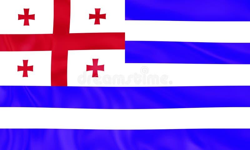 Illustration de stupéfier le drapeau d'Ajaria Drapeaux des ressortissants de pays du monde illustration de vecteur
