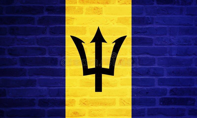 Illustration de stupéfier le drapeau des Barbade Drapeaux des ressortissants illustration de vecteur