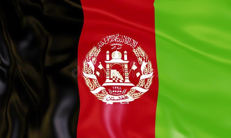 Illustration de stupéfier le drapeau de l'Afghanistan Drapeaux des ressortissants de la rotation de pays du monde illustration de vecteur