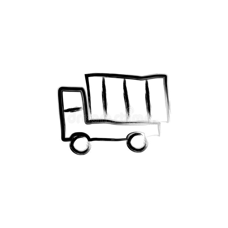 illustration de style de croquis de camion illustration libre de droits