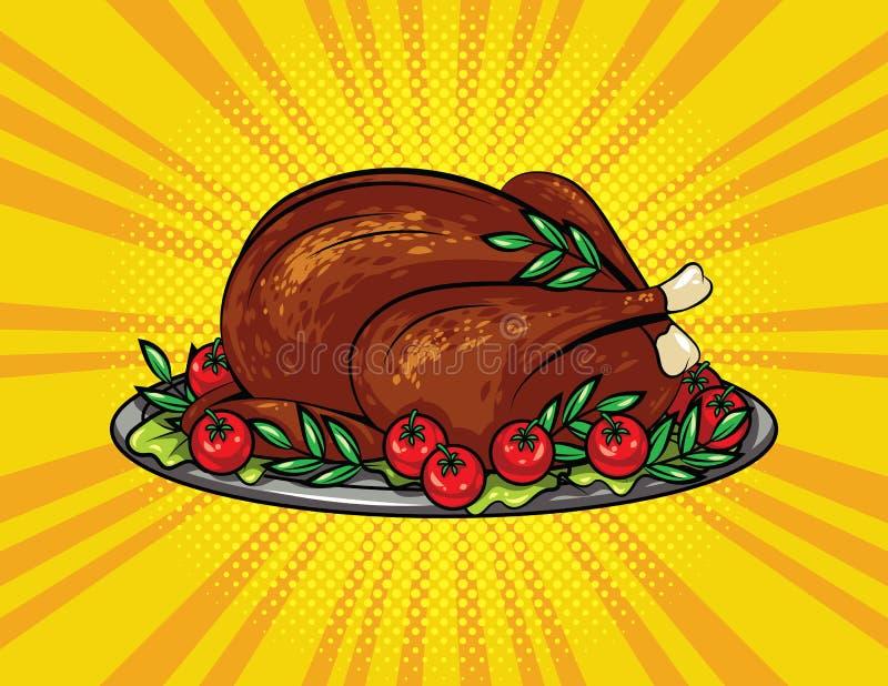 Illustration de style d'art de bruit de vecteur de couleur pour le thanksgiving illustration stock
