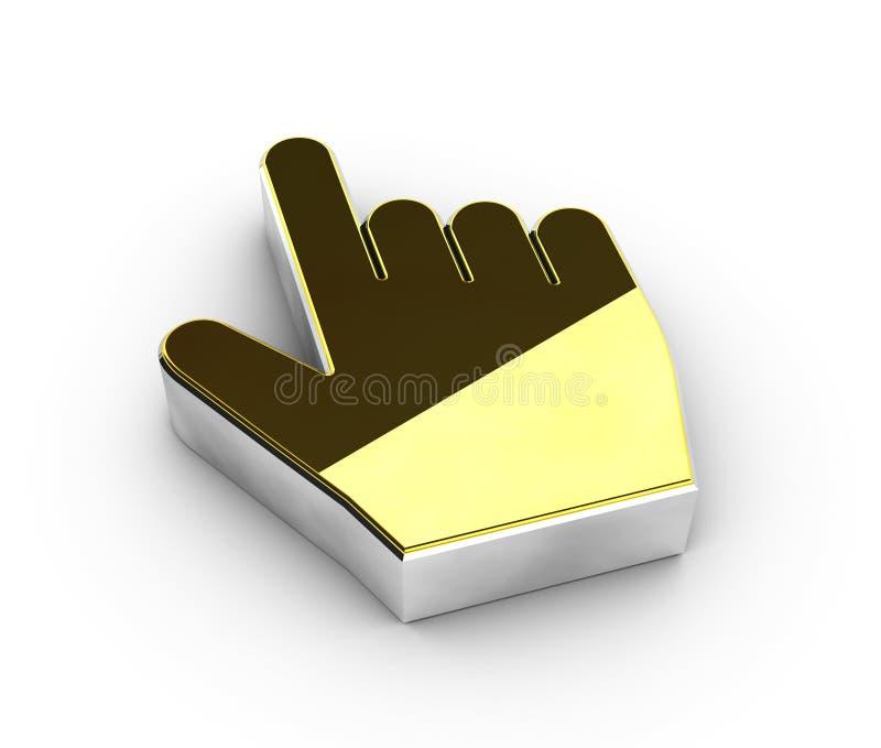 Illustration de symbole de clic d'or sur le fond blanc illustration de vecteur