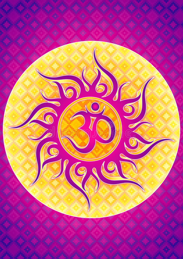 Illustration de symbole de l'OM illustration stock