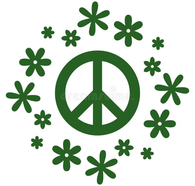 Illustration de symbole de paix de vecteur d'isolement sur le blanc illustration libre de droits