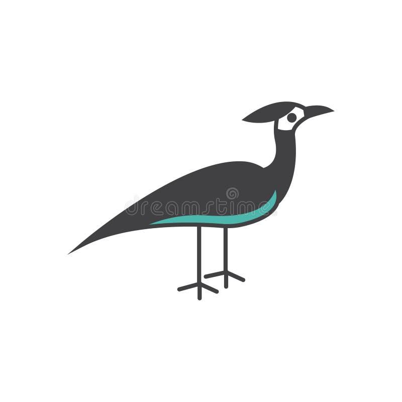 Illustration de symbole de signe de vecteur d'oiseau d'outarde illustration de vecteur