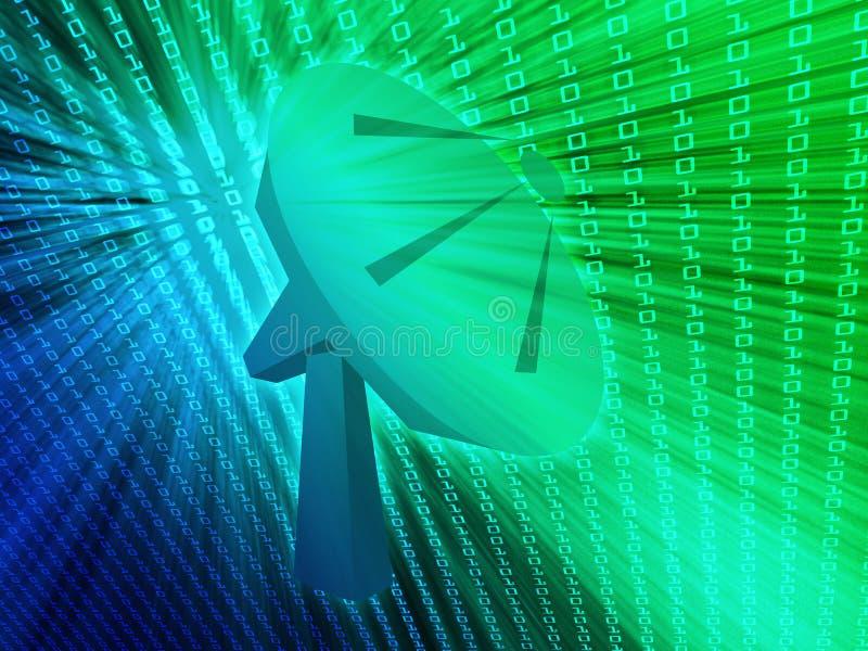 Illustration de télécommunications d'antenne parabolique illustration stock