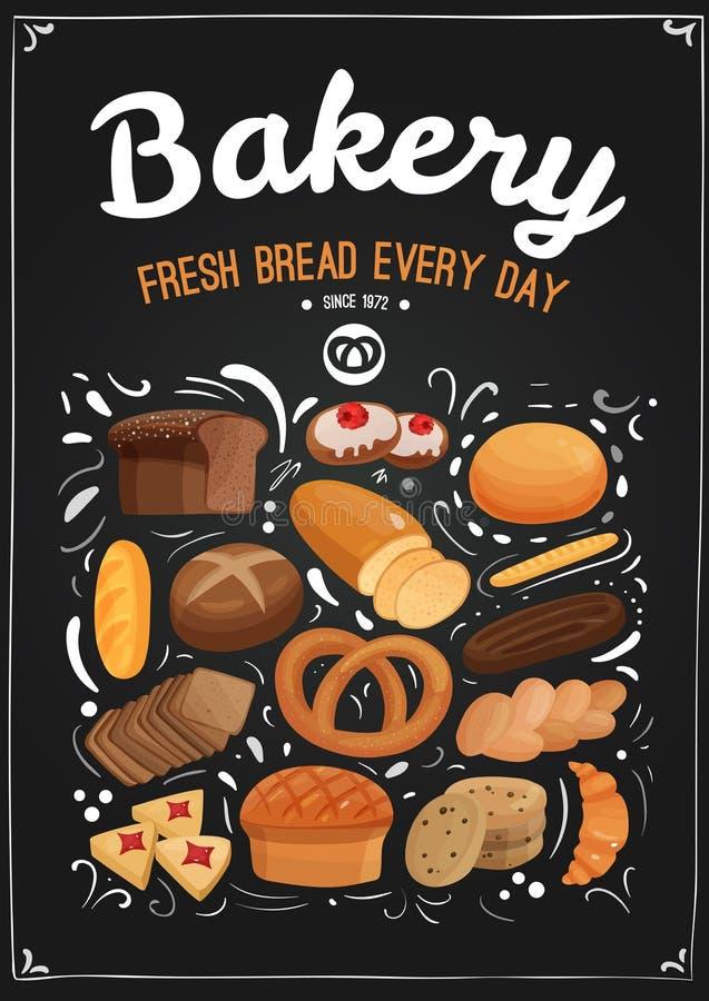 Illustration de tableau de boulangerie illustration libre de droits