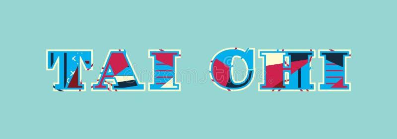 Illustration de Tai Chi Concept Word Art illustration stock