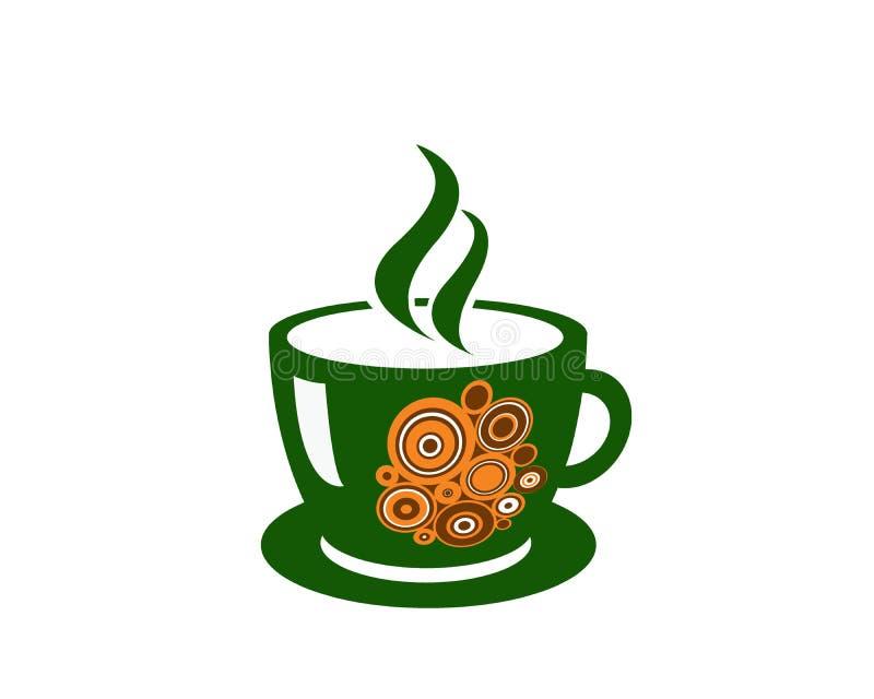 Illustration de tasse de café - vert photographie stock