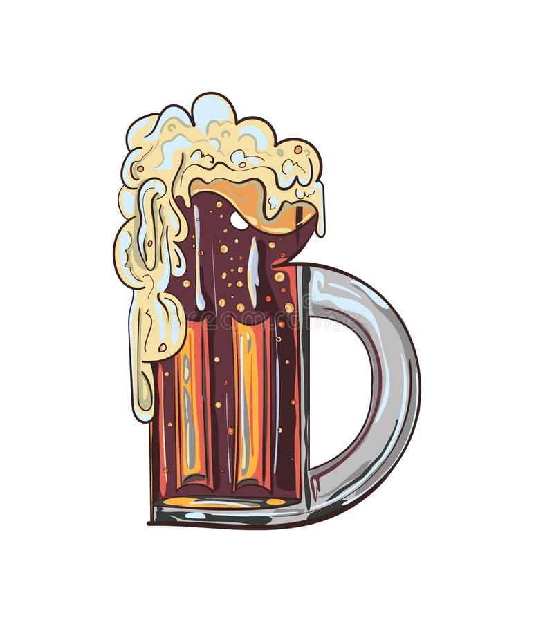 Illustration de tasse de bière photographie stock libre de droits