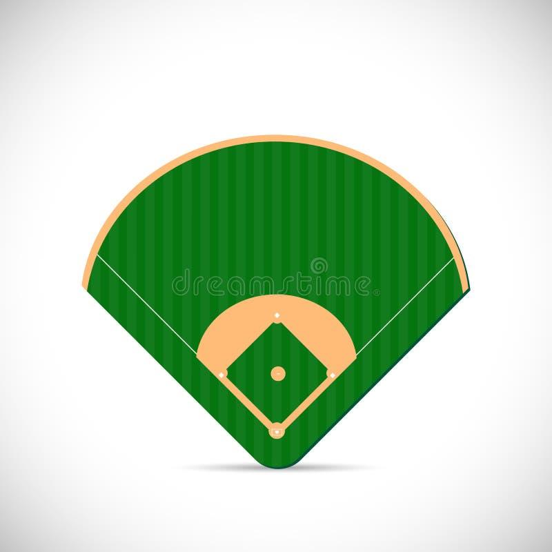 Illustration de terrain de base-ball illustration libre de droits