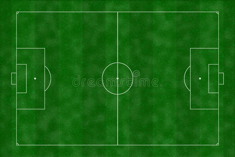 Illustration de terrain de football image stock
