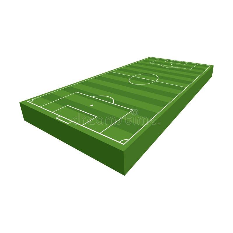 illustration de terrain de football du football 3D illustration libre de droits