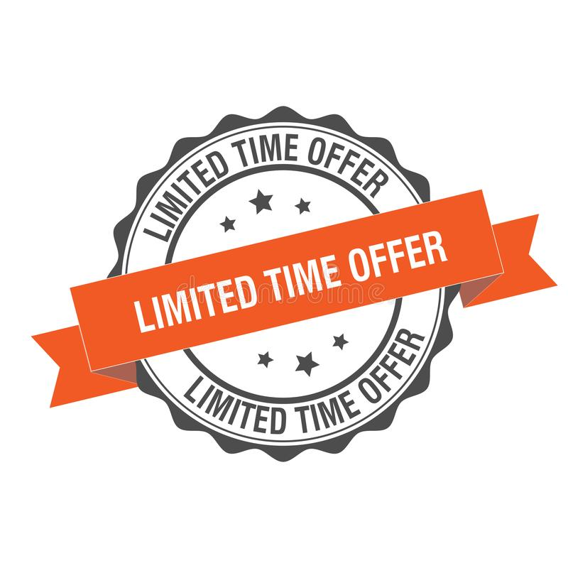 Illustration de timbre d'offre de temps limité illustration stock