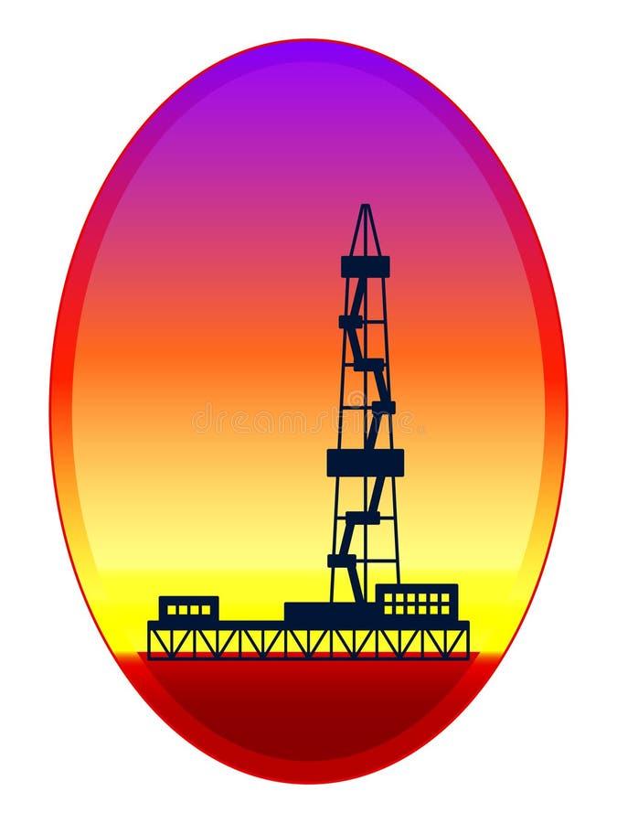 Illustration de tour d'huile illustration de vecteur