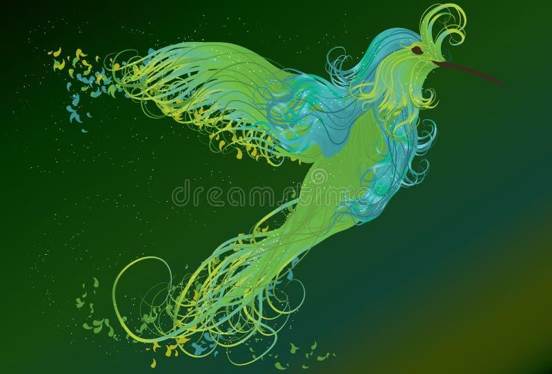 Illustration de tourbillonnement d'oiseau de ronflement illustration stock