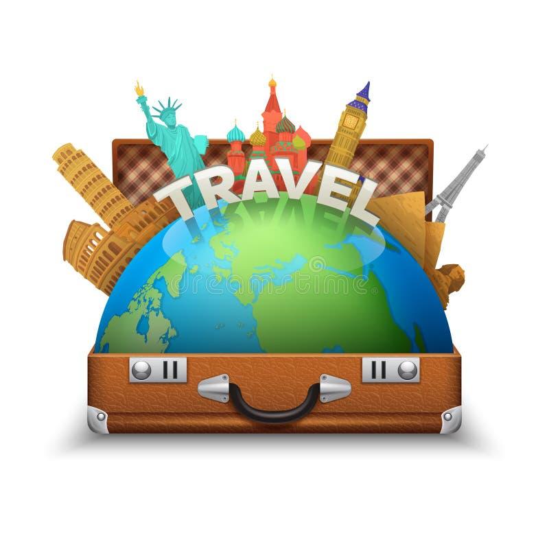 Illustration de touristes de valise illustration stock