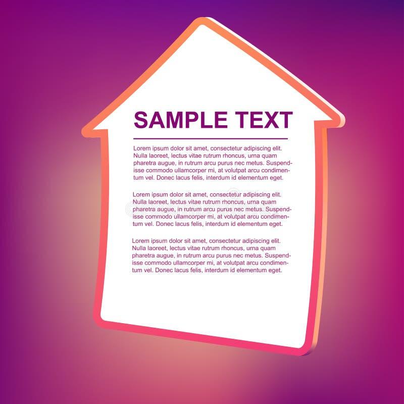 Illustration de trame des textes de vecteur - maison illustration de vecteur