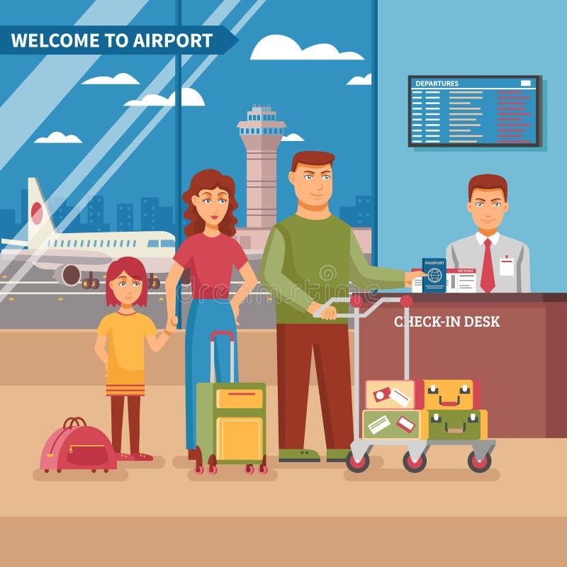Illustration de travail d'aéroport illustration stock