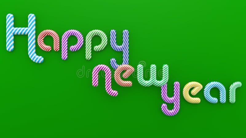 Illustration de typographie de bonne année illustration stock