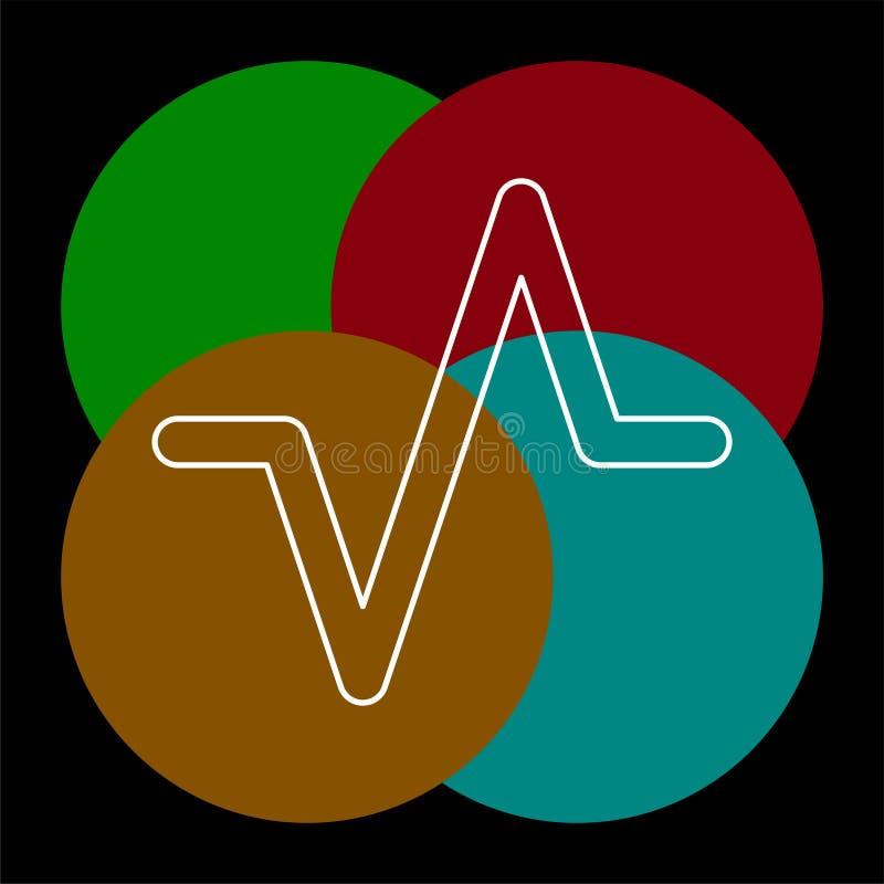Illustration de vague de volume sain de vecteur, musique audio illustration de vecteur