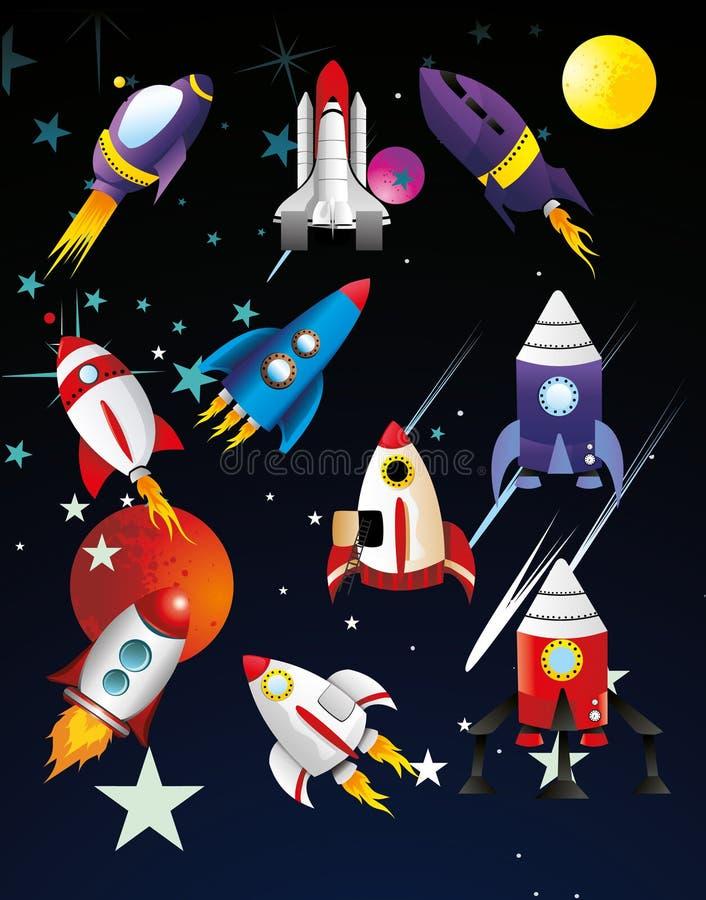 Illustration de vaisseaux spatiaux illustration de vecteur