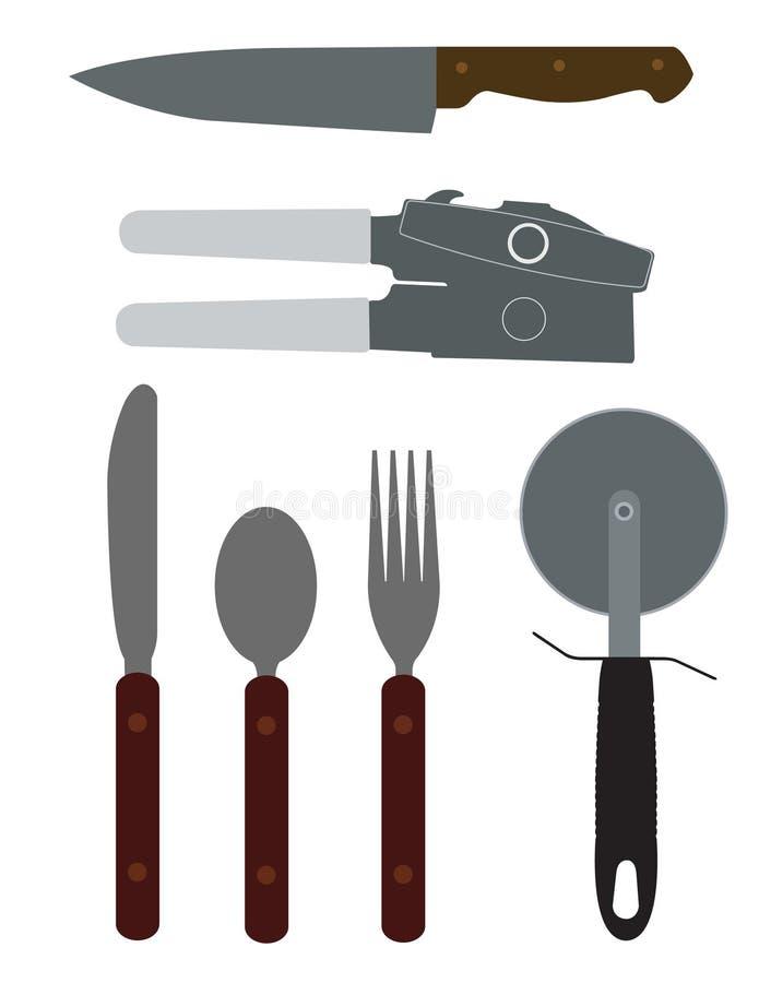 Illustration de vaisselle de cuisine illustration de vecteur