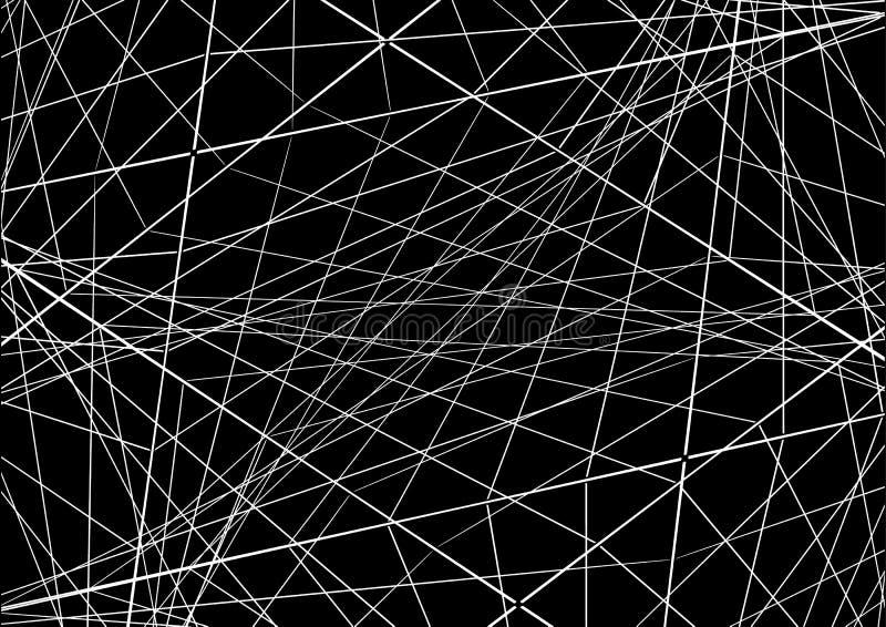 Illustration de vecteur Abstraction avec les lignes de intersection sur le DA illustration libre de droits