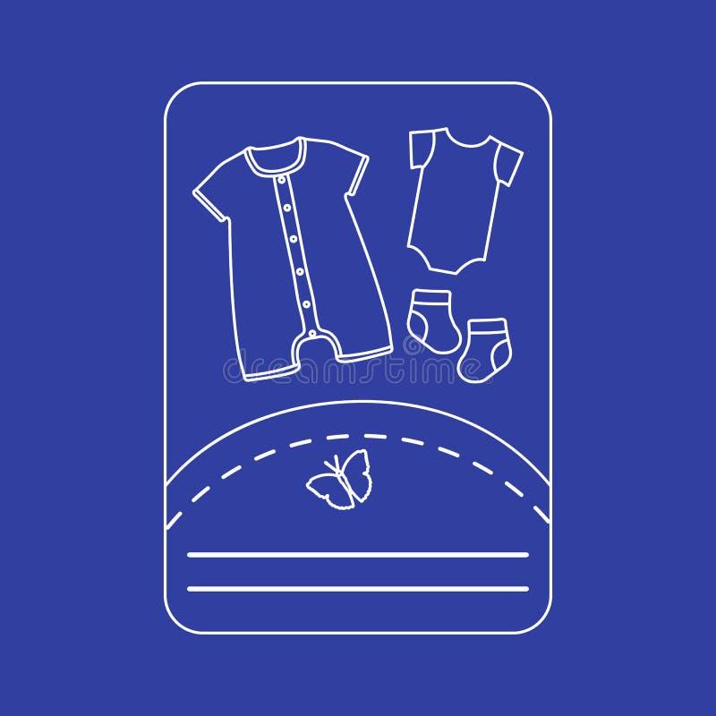 Illustration de vecteur avec des vêtements de bébé Glissement, chaussettes illustration de vecteur