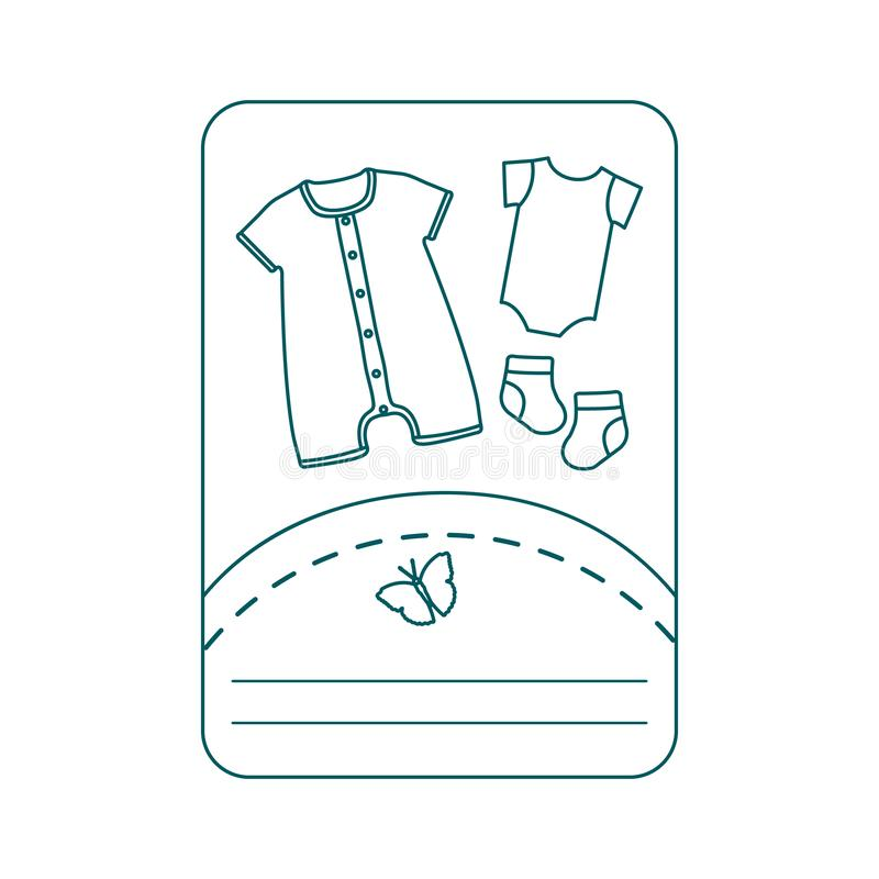 Illustration de vecteur avec des v?tements de b?b? Glissement, chaussettes illustration de vecteur