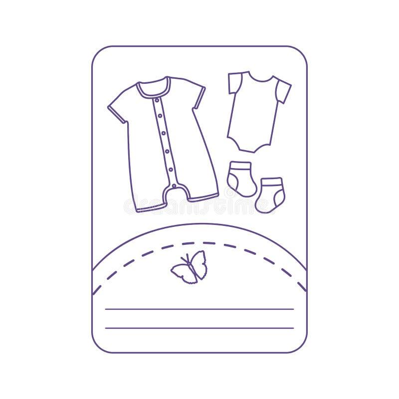 Illustration de vecteur avec des v?tements de b?b? Glissement, chaussettes illustration stock
