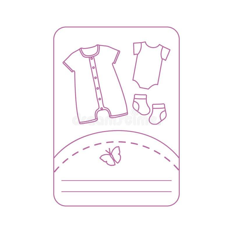 Illustration de vecteur avec des v?tements de b?b? Glissement, chaussettes illustration libre de droits