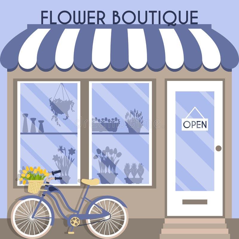 Illustration de vecteur avec la boutique illustration stock