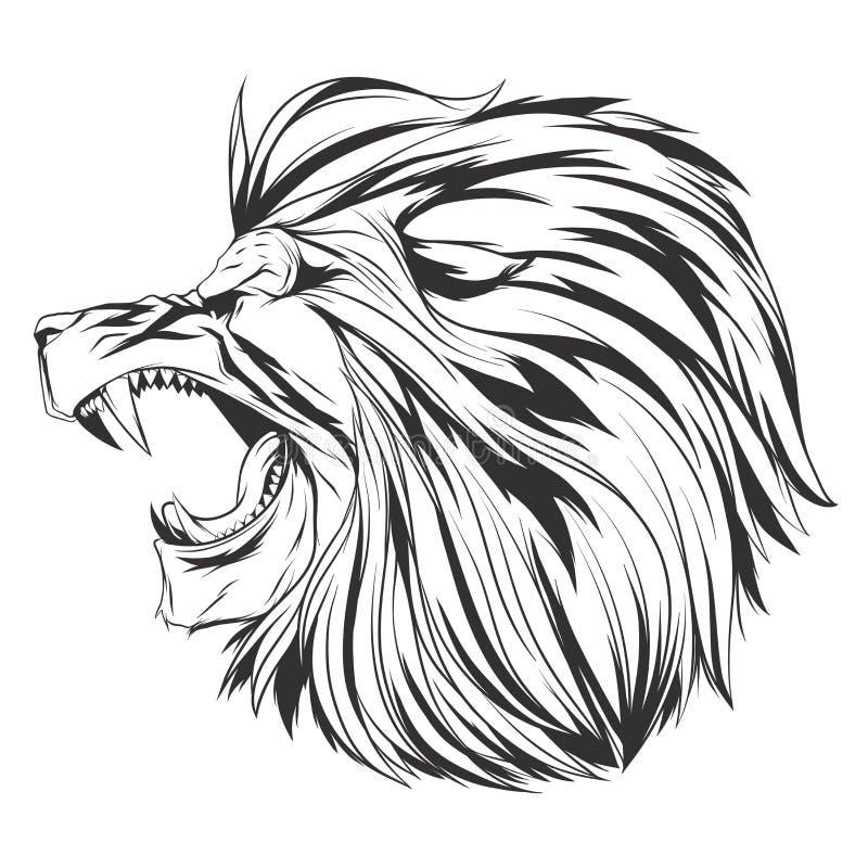 Illustration de vecteur avec la tête de lion illustration stock