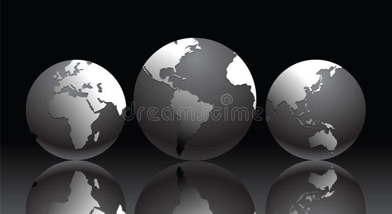 Illustration de vecteur avec le globe illustration libre de droits