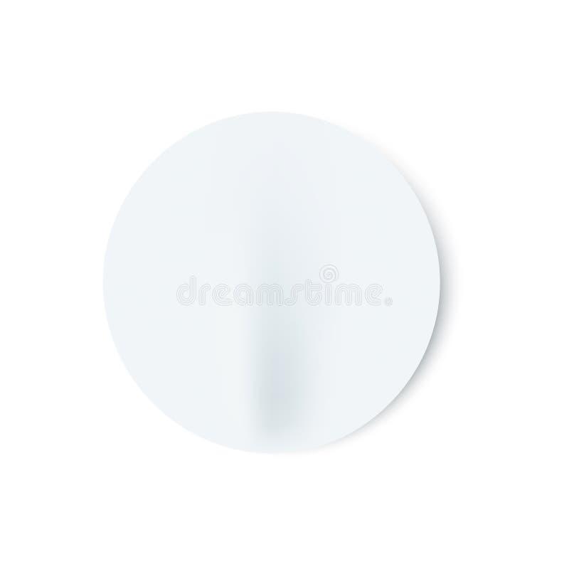 Illustration de vecteur de bâton rond vide blanc mal collé dans le style réaliste illustration de vecteur