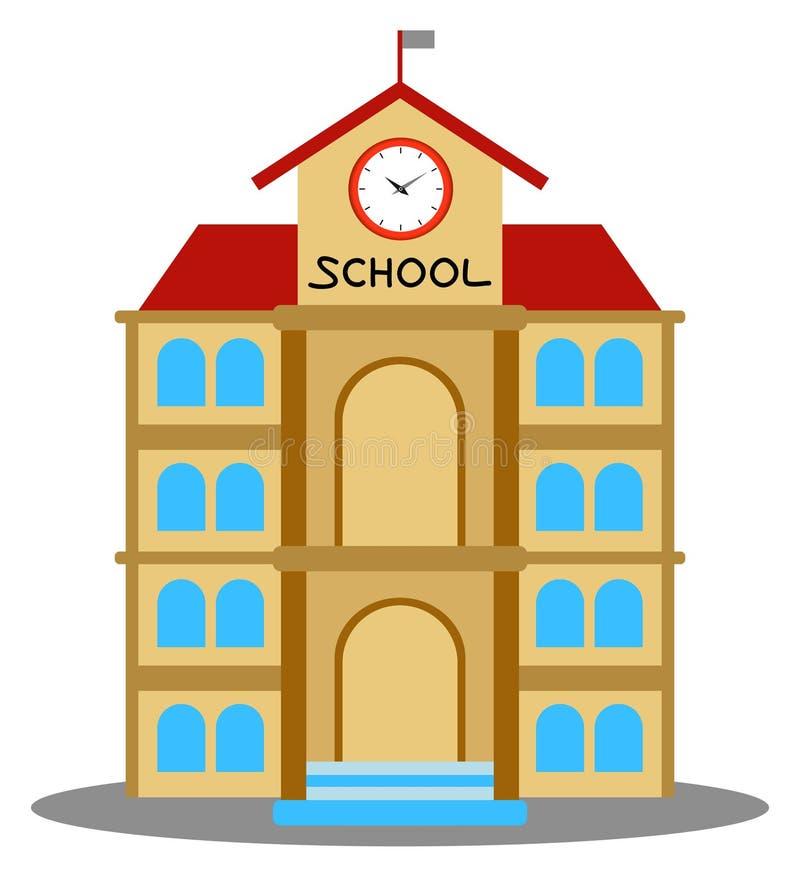 Illustration de vecteur de bande dessinée de bâtiment scolaire illustration de vecteur