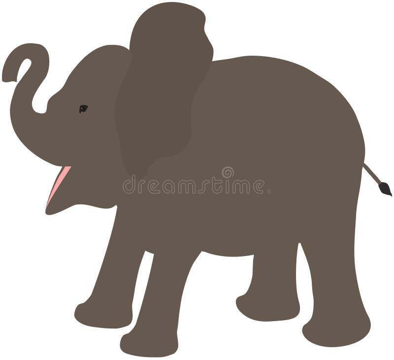 Illustration de vecteur de bande dessinée de bébé de veau d'éléphant illustration stock
