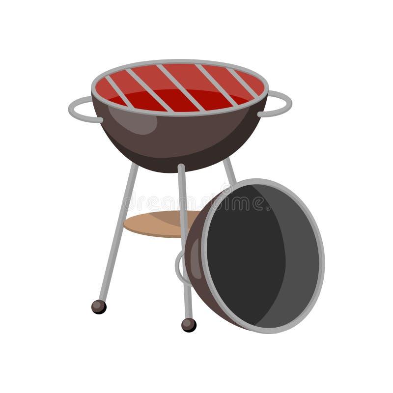 Illustration de vecteur de bande dessinée de gril de partie de barbecue illustration stock