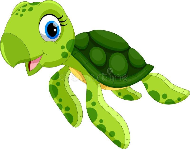 Illustration de vecteur de bande dessinée mignonne de tortue illustration stock