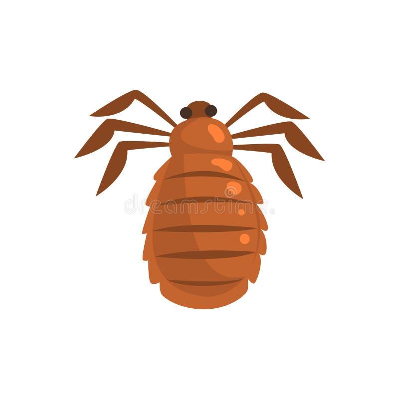 Illustration de vecteur de bande dessinée de parasite d'insecte de pou illustration stock