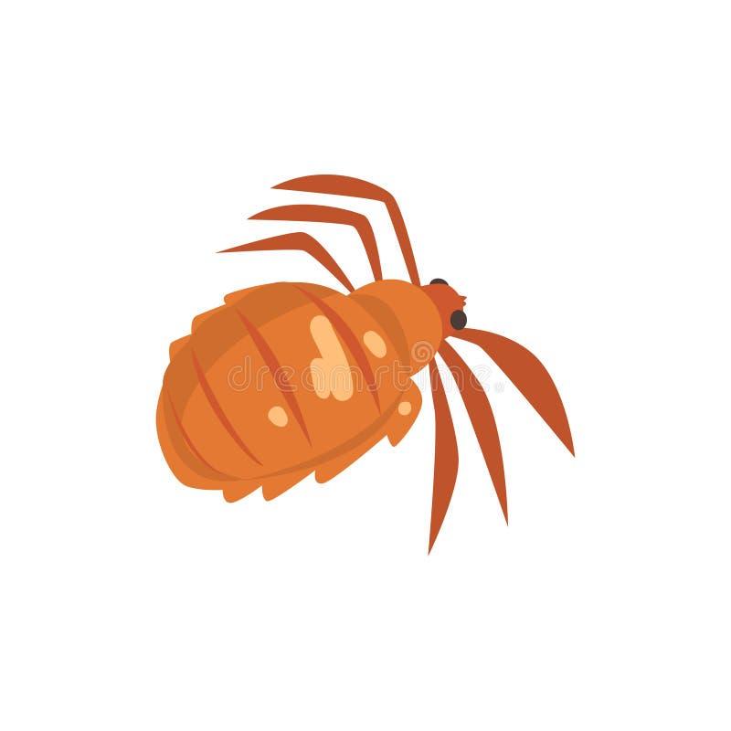 Illustration de vecteur de bande dessinée de parasite d'insecte de poux de tête illustration libre de droits