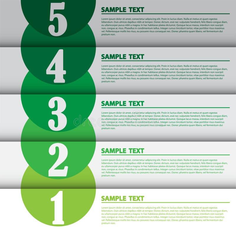 Illustration de vecteur, bannière moderne d'Infographic pour le travail créatif illustration libre de droits