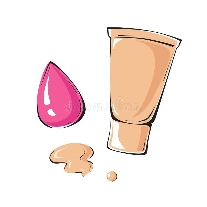 Illustration de vecteur de base et d'éponge rose illustration libre de droits