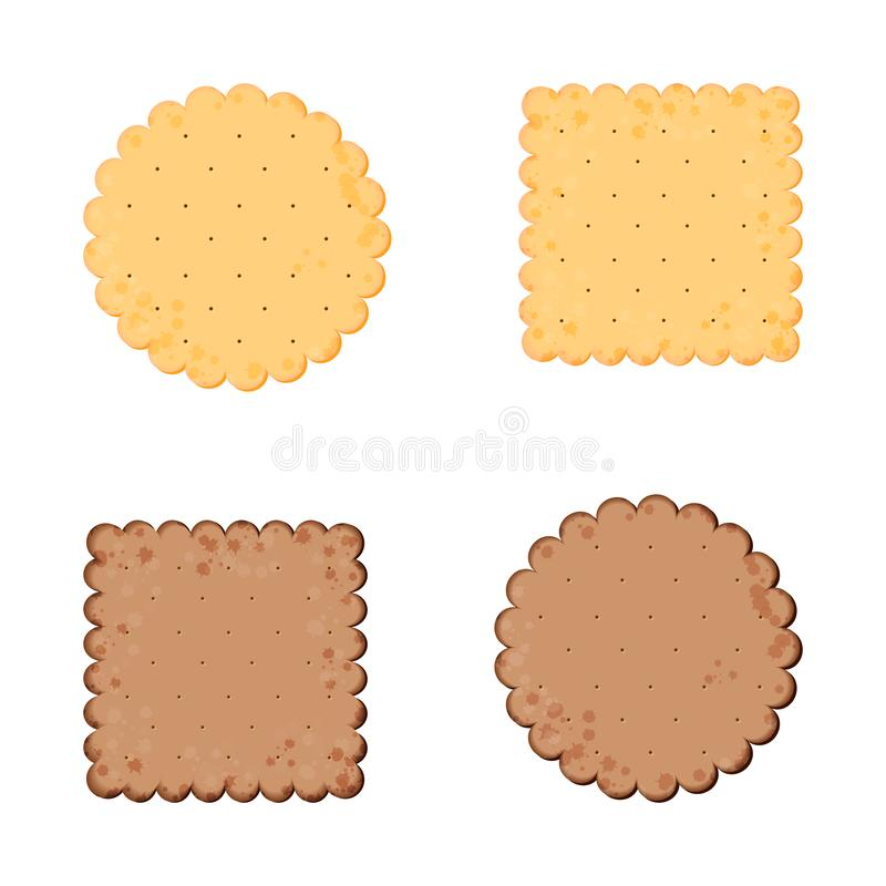 Illustration de vecteur Biscuit de sant? Biscuit de chocolat Biscuit d'isolement : cercle, place Ic?ne pour le magasin de produit illustration de vecteur